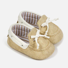 Schuhe - Babyschuhe - Mokassins - Leinen - Taufe