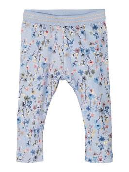 Legging - Blumen - blau - Neugeborene - NAME IT BABY MÄDCHEN