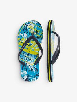 Schuhe - Flip Flop Surfing - blau - gelb - NAME IT KIDS JUNGEN