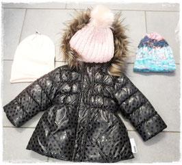 Winterjacke mit Daunenfüllung und Herzenmotiven