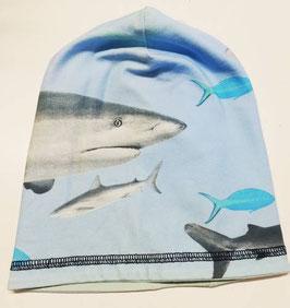 Kopfbedeckung - Mütze - blau - Beanie mit Fische - NAME IT MINI
