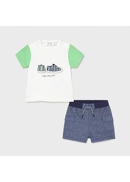 Neugeborenen Set - Jungs - weiß - grün - blau -Gr 62 -  MJ