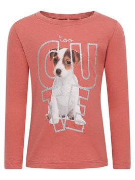 Shirt mit Hund - rost