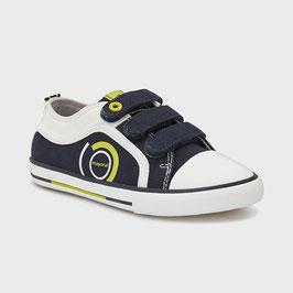 Schuhe - lässige Sneakers - Sportschuhe - marine - gelb- weiß - zeitloser Klassiker