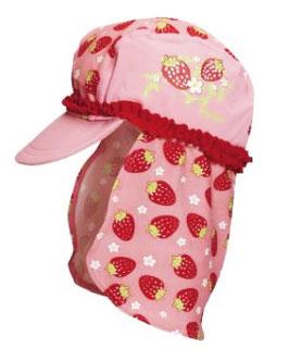 Kopfbedeckung - UV - Schutz Mütze Erdbeeren