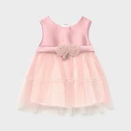 Kleid - Taufkleid mit Goldpunkte am Tüllrock - Festkleid - rose - Tüllkleid - 2 Tüllblüten - Mayoral