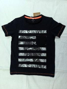 Shirt - kurzarm - blau-weiß - Biobaumwolle - NAME IT KIDS JUNGEN