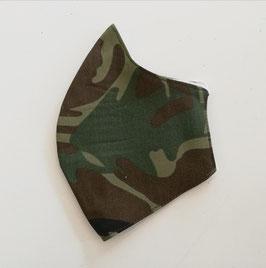 Mund-Nasen-Maske - camouflage - kaki - für Kinder ab 8 Jahre geeignet