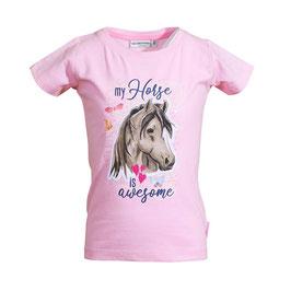 Shirt - Pferd - rosa - mein Pferd ist großartig - Biobaumwolle