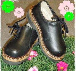 Schuhe - Haferlschuhe Glattleder schwarz