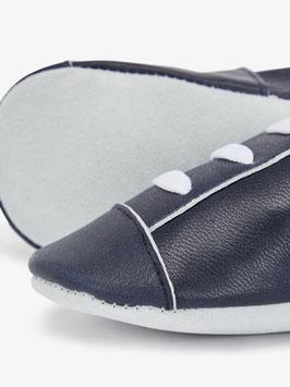 Schuhe - Jungenschuhe - Leder Slipper blau mit weißer Kordel - NAME IT MINI JUNGEN