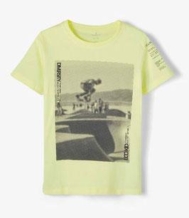 Shirt - Skatermotiv - gelb - Biobaumwolle - NAME IT KIDS JUNGEN