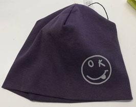 Kopfbedeckung - Mütze - Beanie - Smile - reflektierend lila - NAME IT MINI
