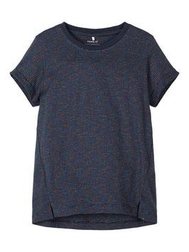 Shirt - GLITZERSTREIFEN T-SHIRT T marine - NAME IT KIDS MÄDCHEN