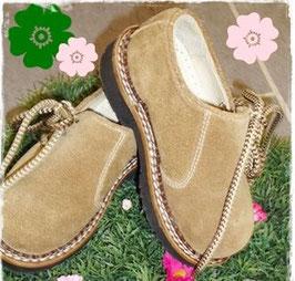 Schuhe - Haferlschuhe für Kinder Rauhleder in torf antik