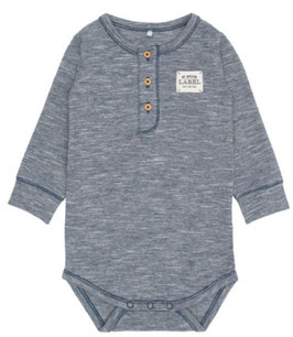 Body langarm blau - Biobaumwolle - NAME IT BABY JUNGEN