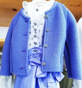 Tracht - Jacke - Trachten Strickjacke lila für Mädchen - Tracht Mädchen