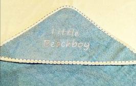 Badetuch - Little Beachboy - Kapuzenhandtuch in aqua