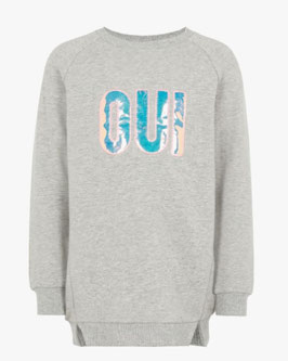 Sweater - OUI -  grau - NAME IT MINI MÄDCHEN