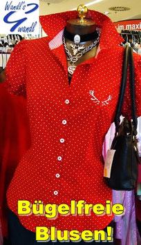 Bluse - Tracht Damenbluse Tracht rot - Tracht Damen
