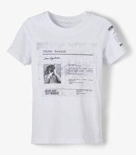 Shirt - kurzarm - weiß - Biobaumwolle - NAME IT KIDS BOY