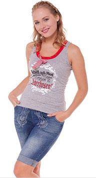 Hose - kurz - Marjo Damen Jeans Trachten Bermuda - Tracht Damen