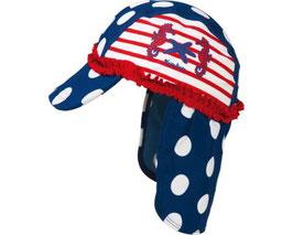Kopfbedeckung - UV - Schutz Mütze Seepferdchen
