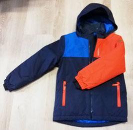 Jacke - Kinder  Skijacke - Wassersäule 8000 wasserdicht blau - orange - NAME IT KIDS