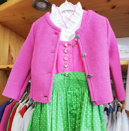 Tracht - Jacke - Trachten Strickjacke in pink für Mädchen - Tracht Mädchen
