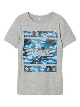 Shirt - Top Gun Shirt in grau - NAME IT KIDS JUNGEN