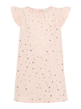 Kleid - Goldgepunktetes Kleid rosa - NAME IT MINI MÄDCHEN