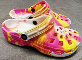 Clogs -pink/gelb - Playshoes