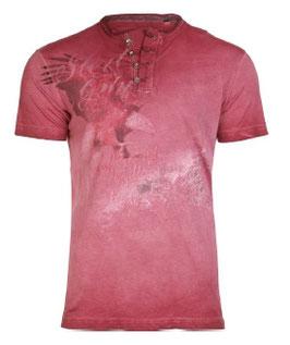 Herrentrachtenshirt ULFRIED burgund - Tracht Männer