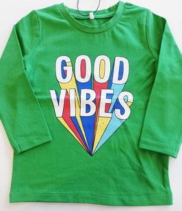 Shirt good vibes grün