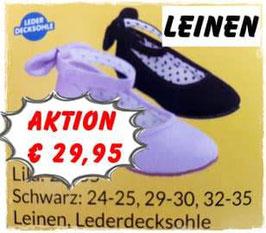 Schuhe - Leinenballerina schwarz - Tracht Mädchen