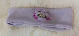 Kopfbedeckung - Stirnband mit Pferd in  flieder - Sterntaler