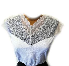 Bluse - Tracht Dirndlbluse Valentina in weiß - Damen Tracht