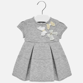 Kleid - Festkleid mit Schleifenapplikation in grau - Mayoral - Taufe