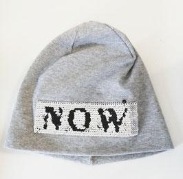 Kopfbedeckung - Mütze - Beanie mit Wendepailletten in  grau  - NAME IT KIDS MÄDCHEN