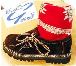 Schuhe - Haferlschuhe für Kinder in Rauhleder in dunkelbraun