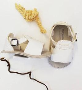 Schuhe - Babyschuhe - Sandale - Gr 15 - weiß - Taufe