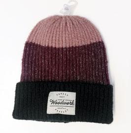 Kopfbedeckung - Mütze - kuschelig - bordeaux - schwarz- NAME IT KIDS MÄDCHEN