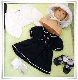Kleid - Matrosenkleid marine mit Goldknöpfe - TAUFE