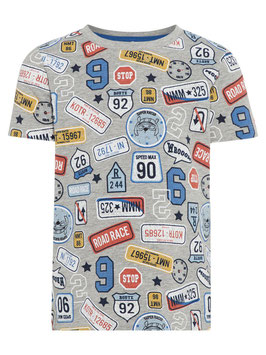 Shirt - ROUTE 66 - grau - NAME IT MINI JUNGEN