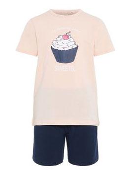 Nachtwäsche - Mädchenpyjama kurzarm - Muffin - AKTION - NAME IT KIDS MÄDCHEN