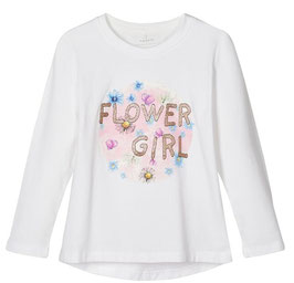 Shirt - Flower Girl Shirt weiß - NAME IT MINI MÄDCHEN