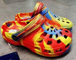 Clogs - blau-rot-gelb - Playshoes