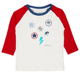 Baby Super Hero Shirt mit Patches mit rot - NAME IT BABY JUNGEN