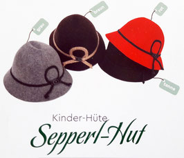 Kopfbedeckung - Trachtenhut für Kinder - für Burschen & Madl - Kindetrrachtenhut - Kindertracht