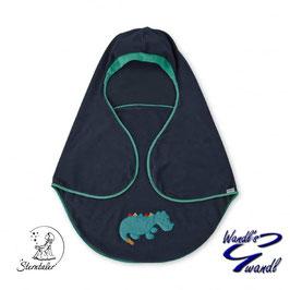 Einschlagdecke - Kuschelzoo - blau mit Dinomotiv - Sterntaler